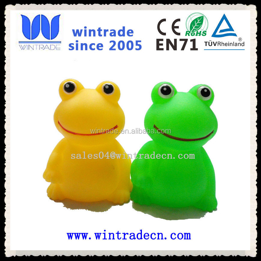 Promotional Floating And Flashing Rubber Frog Bath Toy - Buy Rubber ...