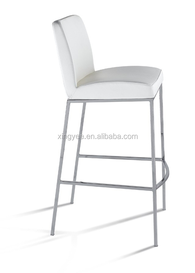 Modern Living Room Home Goods Bar Furniture Barchair Stainless Steel Metal Frame Stools Leather Kitchen