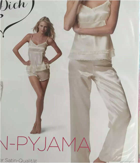 Overstock garment sale cheap white women chinese satin pajamas