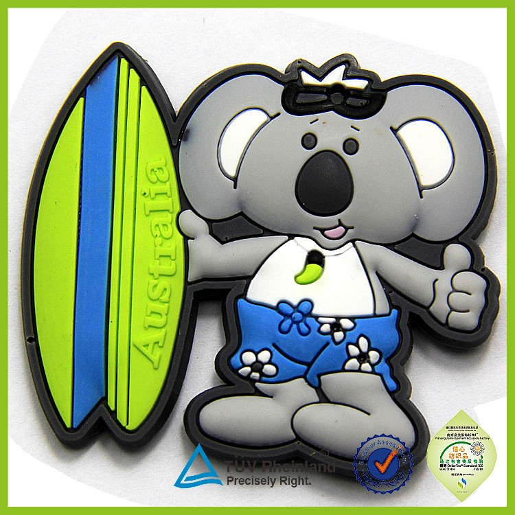 Factory custom world city cartoon soft pvc 3d rubber magnet fridge magnet