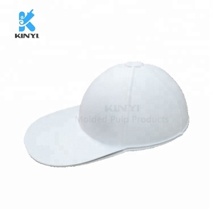 Eco friendly customized molded pulp DIY paper hats, disposable paper hats