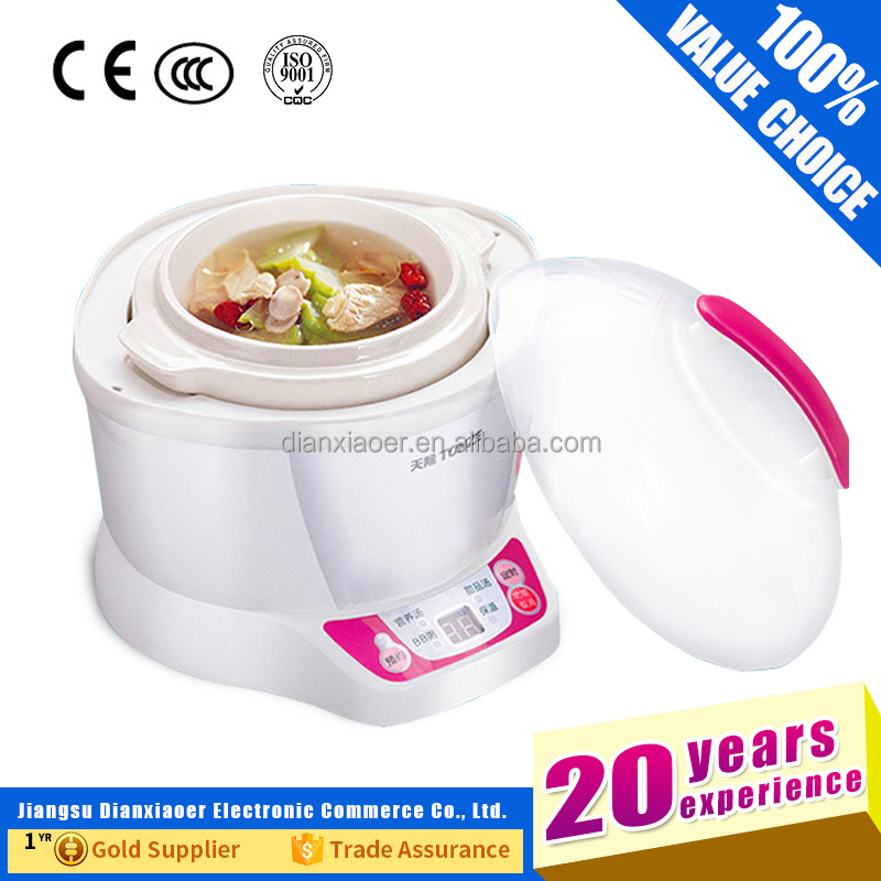 Electric Ceramic Inner Pot Stew Pot Slow Cooker For <strong>Rice</strong> or Soup