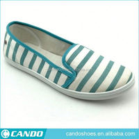 ladies summer style slipper designer canvas loafer shoes in wenzhou 2016, european style best casual flat loafer shoes