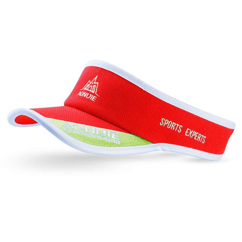 c5c576f9319 Get Quotations · Unisex Summer Sun Visor Cap Lightweight Sun Protector Tennis  Caps Adjustable Hollow Top Hat