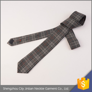 High quality cheap price adjustable checked designer 100% wool tie
