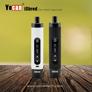 Dry herb vaporizer 2017 Yocan iShred convenient design usb charging port smoking device baking experience
