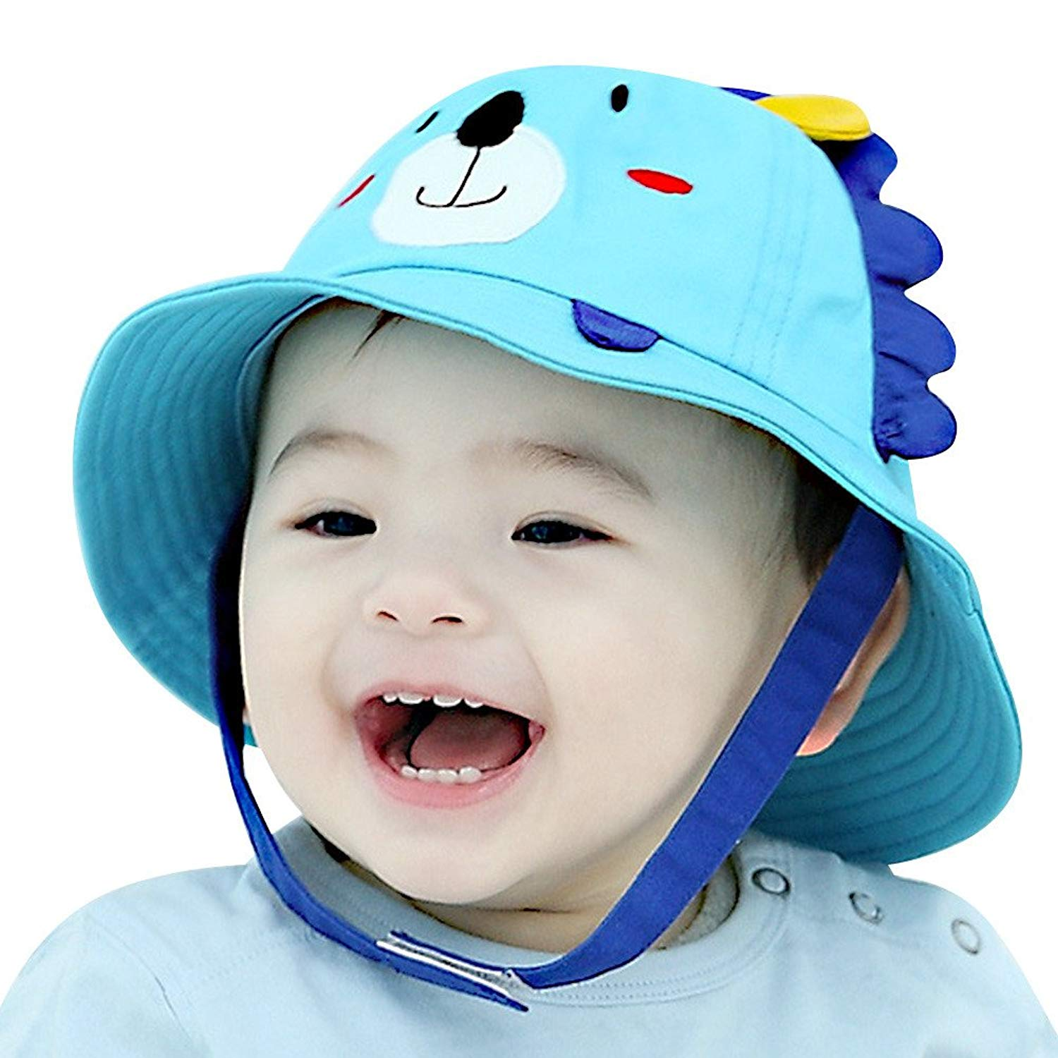 bc8a20b791e Get Quotations · IMLECK Little Lion Baby Sun Hat Outdoors Hat with Chin  Strap