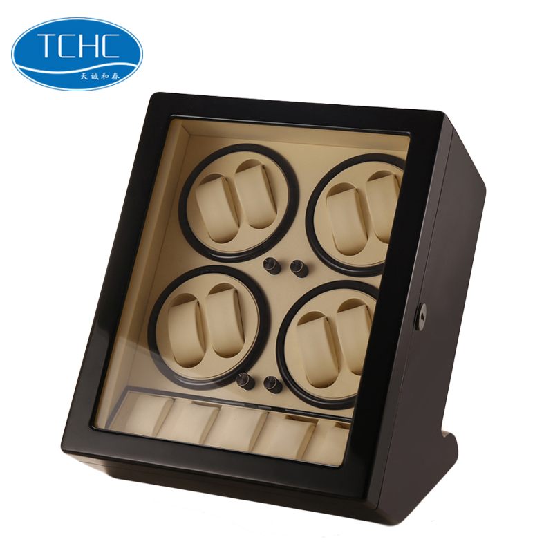 TCHC 8 + 5 Best Price 모터스 (gm) 4 Watch Winder 상자 나무 Watch Winder Motor