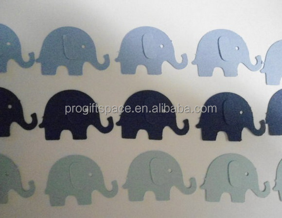 Hot new best selling product quality <strong>craft</strong> Blue Elephant Die Cuts Double Sided Scrapbook Embellishments made in China