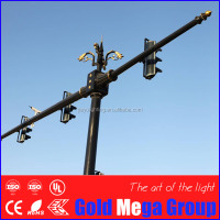 6.5m Q345 Q235 hot dip galvanized traffic light column and cctv camera post price