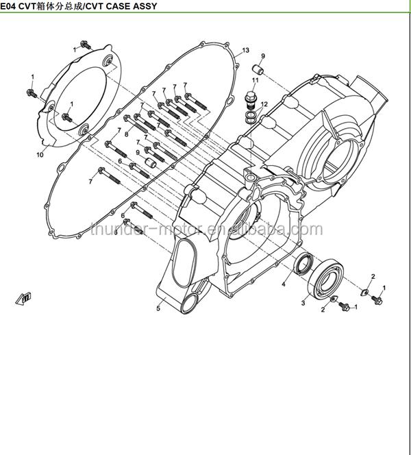 Quad Bike Vector Drawing