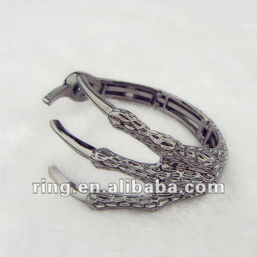 Funky Vintage Unisex Eagle Claw Antique Silver Plated Gothic Bangle