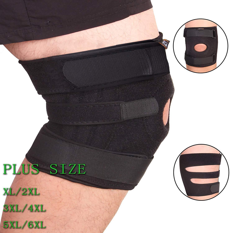 4520e90e7e Get Quotations · Plus Size Knee Brace, Open-Petella Stabilizer Knee Support  for Arthritis, ACL,