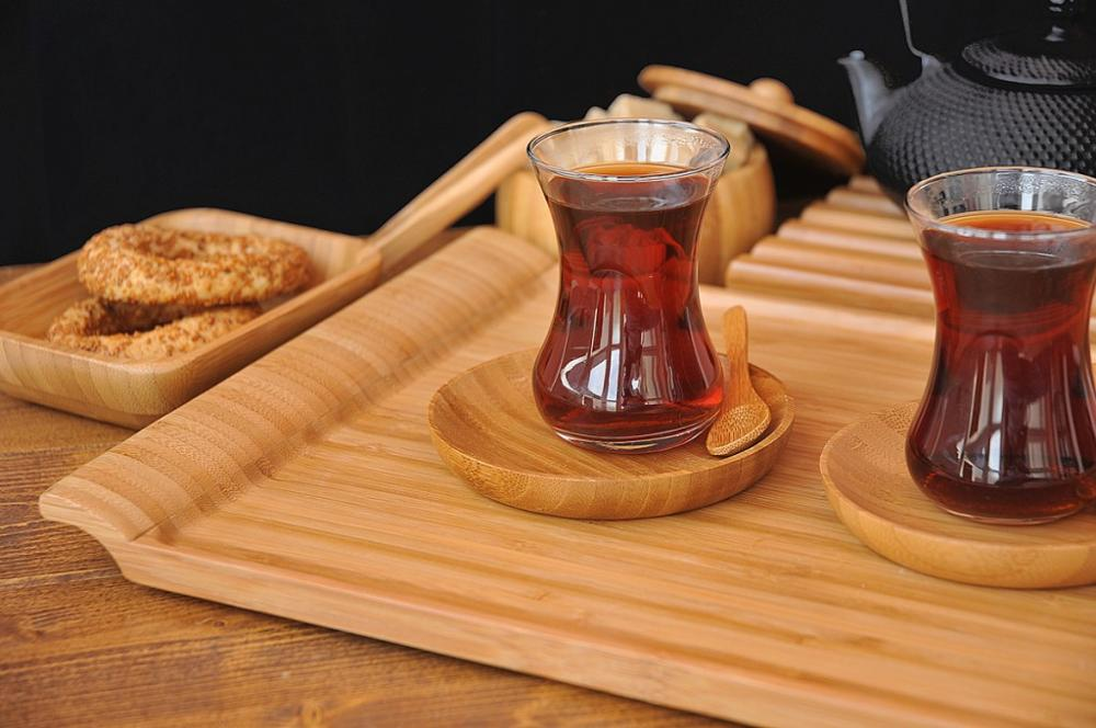 modern wood serving tray with unique handle 5