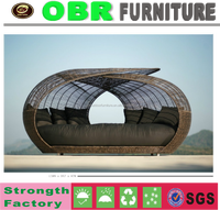 new style with competitive price rattan bed room chaise lounge