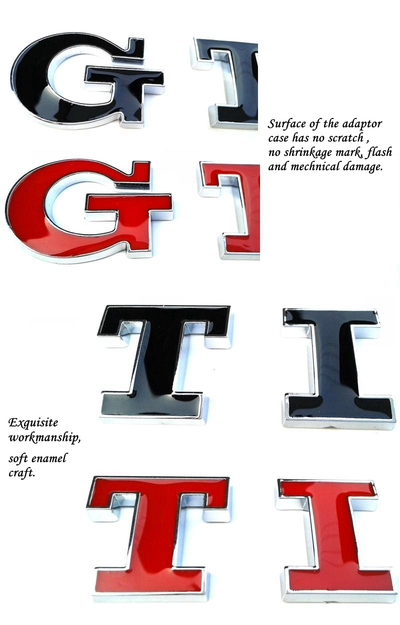 Best Price For GTI Emblem Chrome Electroplating Car Badge