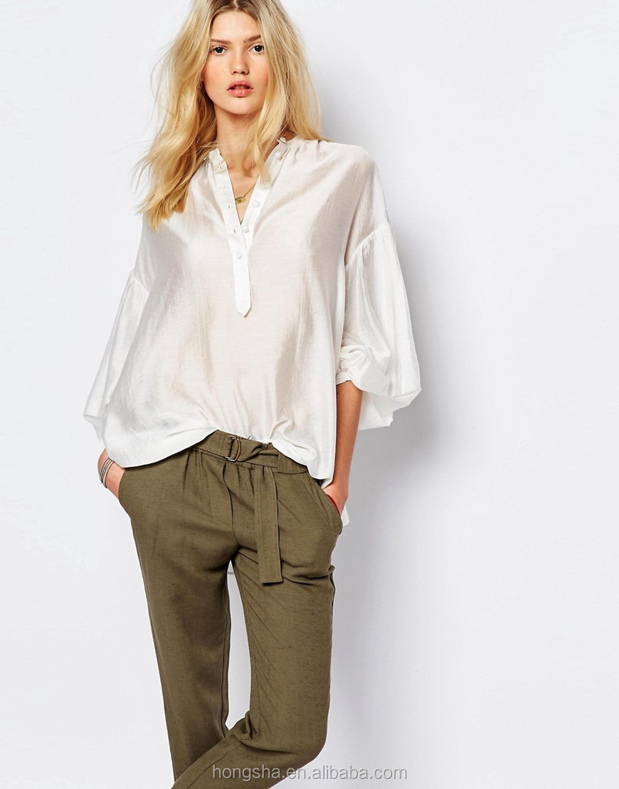 satijnen blouse dames