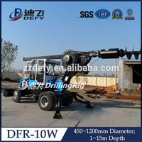 hydraulic drilling rig of pile driver DFR-10W for borehole drilling machine price