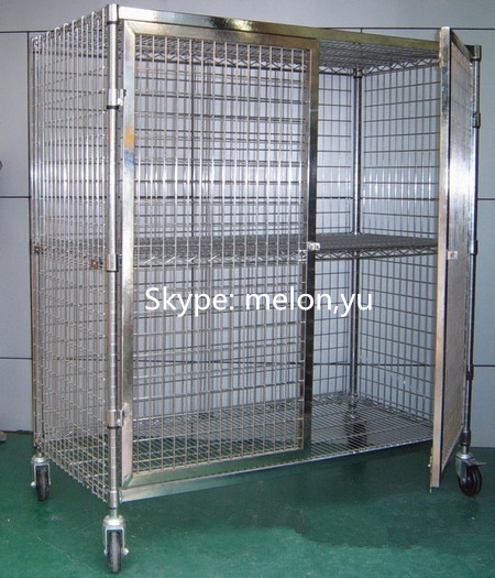 Chrome Security Cage Cart For Smt Components Buy