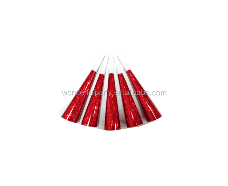 Brilliant red paper blow horn Noise-Making party Horns Manufacturer