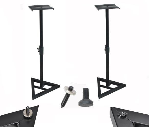 De Metal pesado altura ajustable Monitor soporte de altavoz triángulo acero soportes de altavoz para estudio de Casa/en el escenario