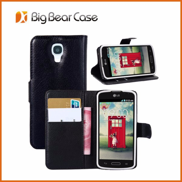 Wallet leather flip cover for lg f70 d315