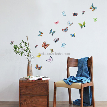 3D Butterfly Wall Sticker Decals Home Decor Poster For Kids Rooms Art  Stickers