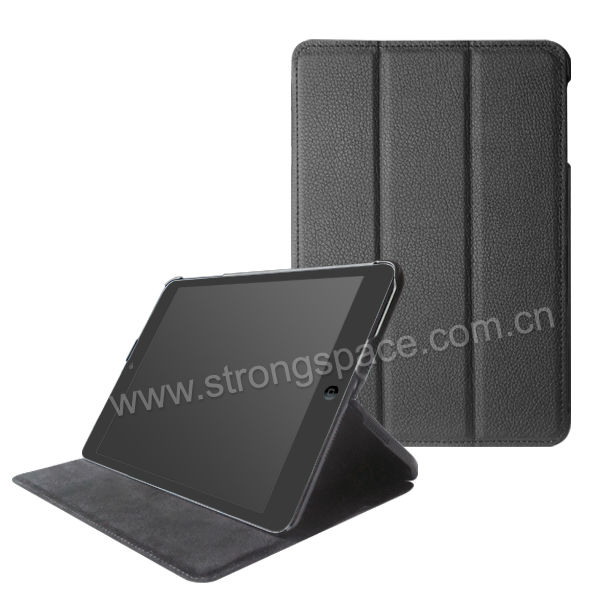 2015 hot selling magnetic PU leather for ipad mini slim case