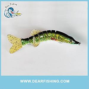 8 Inch 8 Section Segments Small Pike Artificial Fishing Lure Pike Fishing Lure, Dog Caiman Bait, Crocodile,northern Pike, Tiger Pike, Fire Pike ,Cayman,boogeyman