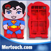For iPhone 4 4S 5 For Samsung S3 S4 Superm Covers Ironmen Thor Soft Vedio Game Silicone Devil Carton 3D Character Superman Case