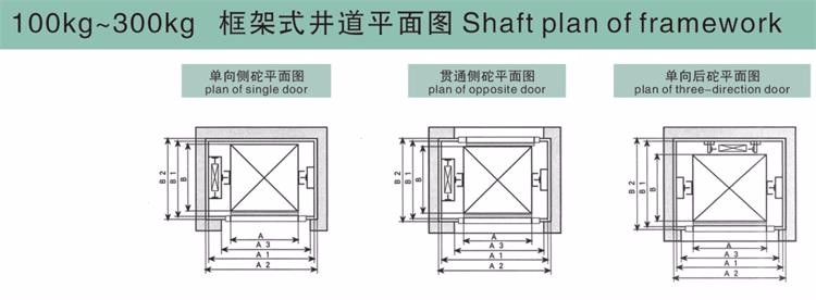 Electric small dumbwaiter food elevator ac drive type for Dumbwaiter design plans