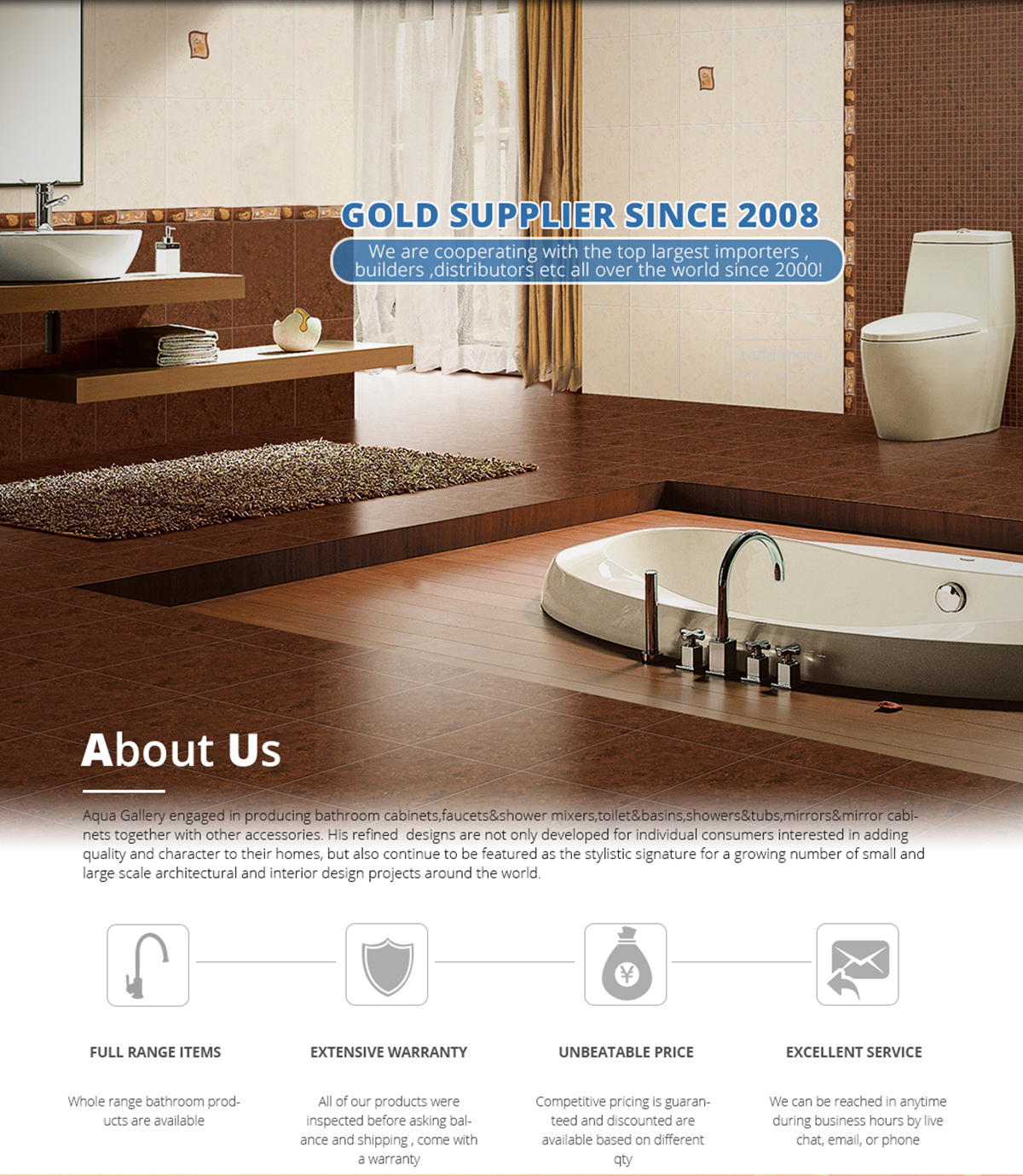 Foshan Aqua Gallery Co., Ltd. - Bathroom Cabinet, Faucets&Shower Mixers