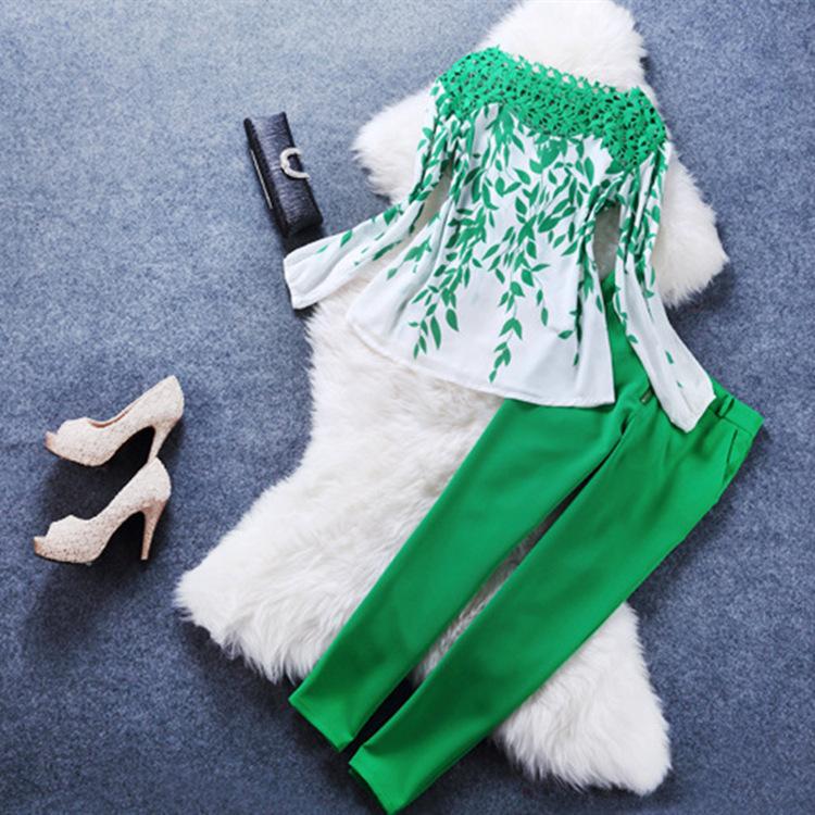 Свободного покроя женское брюки костюмы кружево шифон брючный костюм женщины бизнес костюмы официальный офис костюмы рабочий приталенный 2 цельный костюм комплект