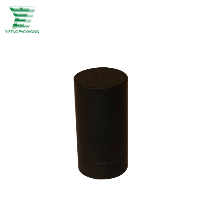 Custom printed cardboard small black gift packaging paper tube box