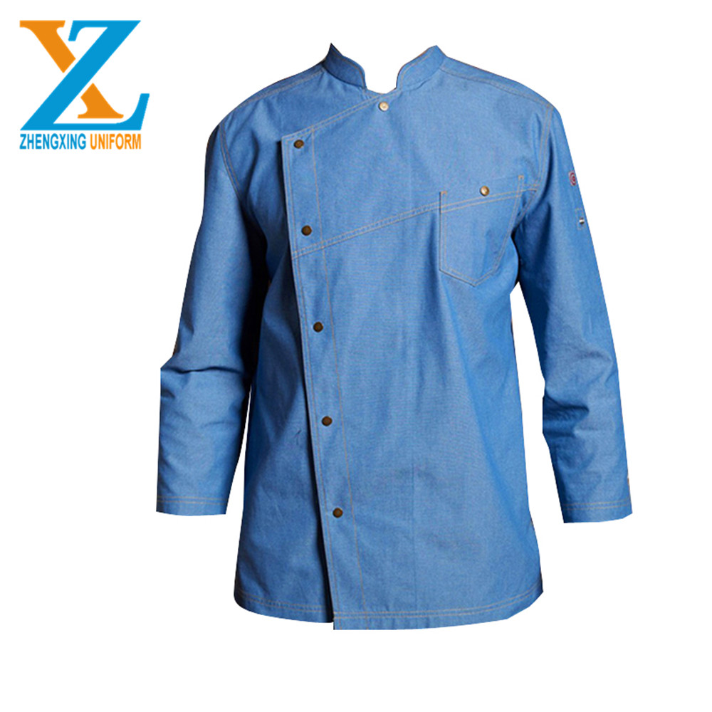 Promotional Wholesale long sleeve unisex restaurant jacket kitchen coat cooking hotel reception uniform