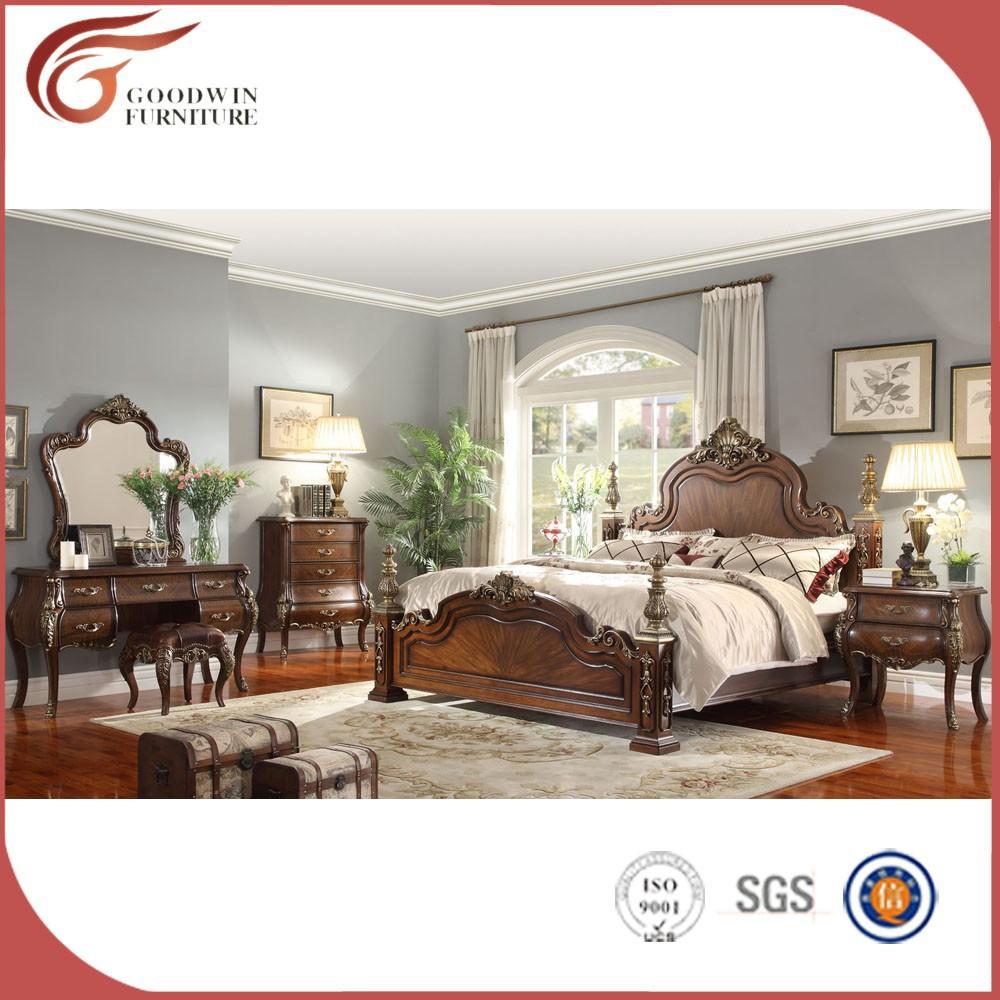 Klassieke koninklijke ontwerp kleur eiken slaapkamer meubilair ...