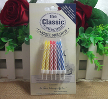 Custom Multicolored Candles For Birthday Cake/Wholesale Colorful Party Candle/No Smoke and No Dripping Birthday Candle