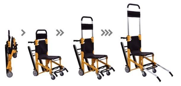 en alliage d 39 aluminium wsx g2 chaise d 39 vacuation portable d 39 urgence en ambulance civi re. Black Bedroom Furniture Sets. Home Design Ideas