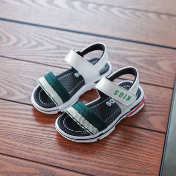 2018 Summer New Children s Beach Sandals Color Ribbon Sports Wind Toe Shoes  Men and women Child dc2cc6f005
