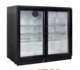 Glass double door back bar cooler beer refrigerator with CE, CB