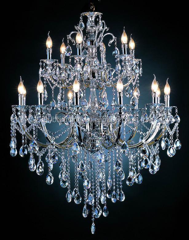 Ara a de cromo k9 cristal moderna l mpara de ara a de luz - Lampara de arana moderna ...