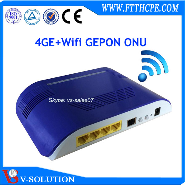 wireless 4GE EPON ONU same as zte fiber optic modem
