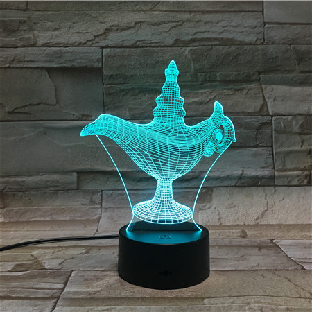 Aladdin Magic Lamp shape Light And Lighting Touch Sensor Bedside Led Table Lamp for decoration