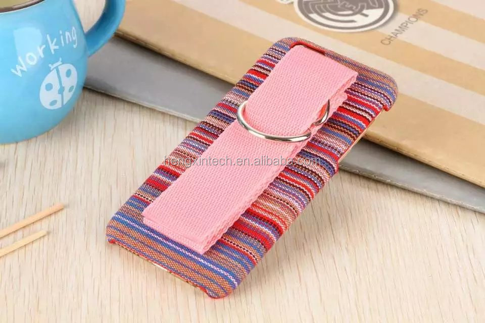 NEW National Fabric Aztec Tribal Stripe Plastic Hard Back Cover Cases with hand holder for iPhone6s 6s plus 6 6plus