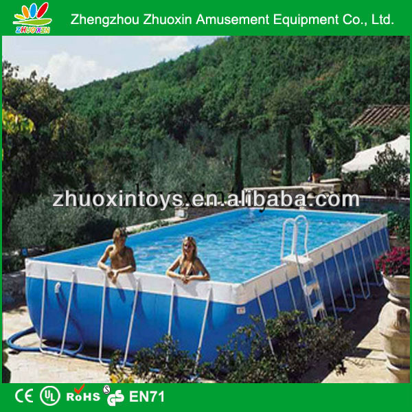 Wholesaler rectangle pool above ground rectangle pool for Above ground pool manufacturers