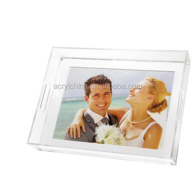 Lucite Großes foto tray-white mat