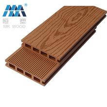 New Outdoor Decorative Wood Flooring Tile Plastic Composite Flooring Board  Exterior Decoration PVC Decking Flooring