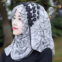 Custom Digital Print Turkish Square 100% Silk Satin Muslim Pakistani Scarf Women Hijab
