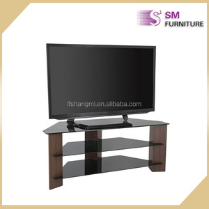 Modern simple Black Glass Tv Cabinet 55 Inch TV Stand