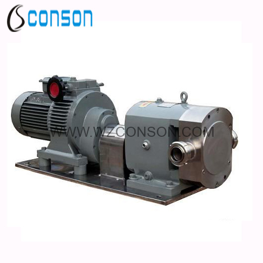 304 and 316 food grade stainless steel rotary lobe pump